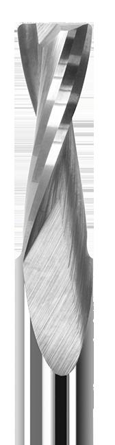 End Mills for Plastics - Corner Radius Upcut - 2 Flute