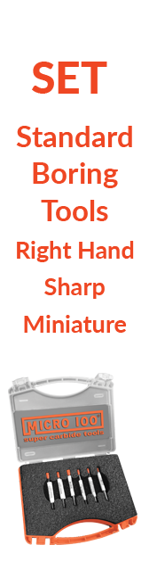 Sets - Standard - Boring Tools - Right Hand - Sharp - Miniature