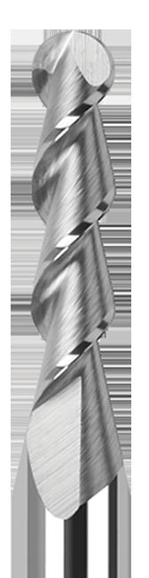 High Helix End Mills for Aluminum Alloys - 45° Helix - Ball