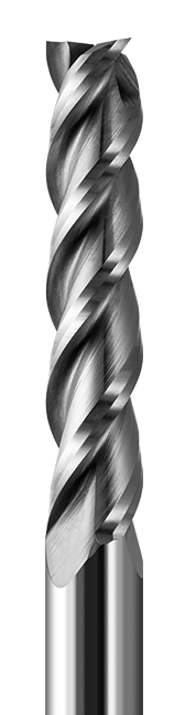 End Mills for Plastics - Finishers - Square Upcut - 3 Flute - High Helix