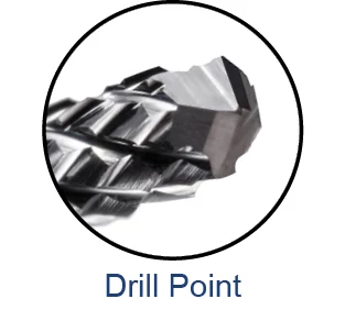 End Mills for Composites - Diamond Cut - Drill Style