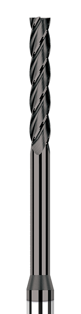 Diamond End Mills for Non-Ferrous Materials - CVD Diamond - Square - Long Reach, Long Flute