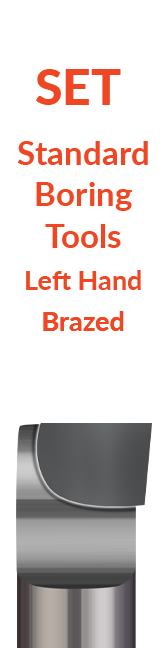 Sets - Standard - Boring Tools - Left Hand - Brazed
