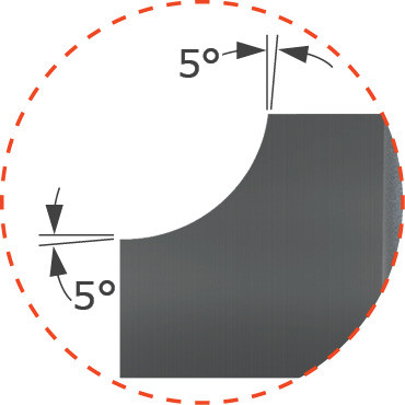 Brazed - Forming Tools - 90° Radius Concave - Left Hand