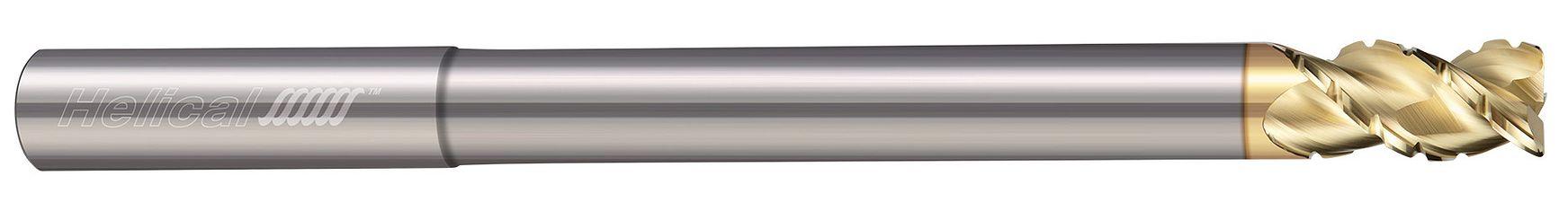 3 Flute, Corner Radius - 45° Helix, Chipbreaker Rougher, Reduced Neck
