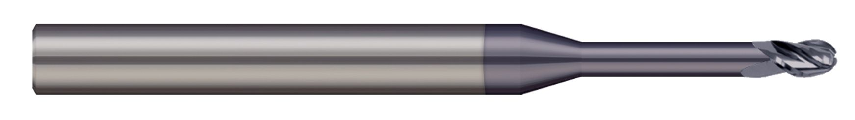 End Mills for Steels & High Temperature Alloys - Ball - 2 & 3 Flute - Long Reach, Stub Flute