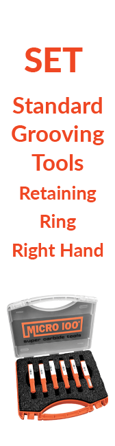 Sets - Standard - Grooving Tools - Retaining Ring - Right Hand