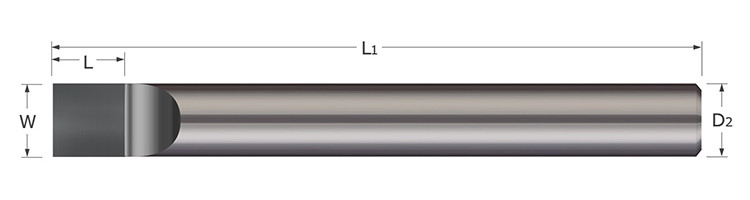 Brazed - Forming Tools - Round Shank