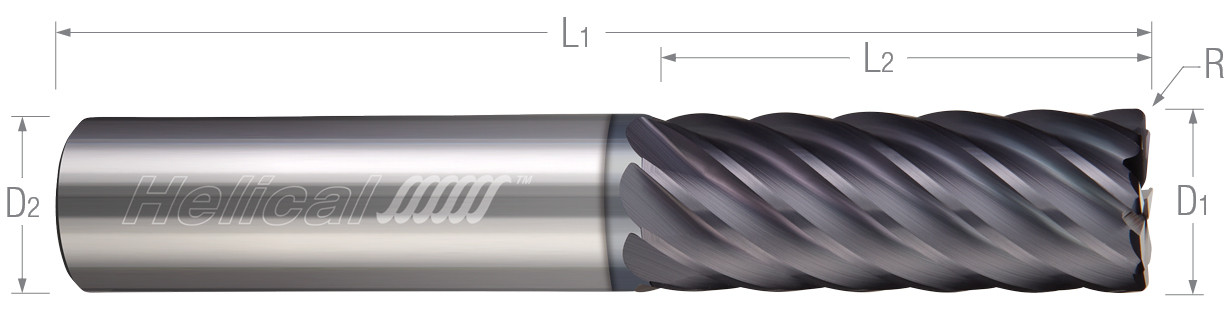 Multi-Flute, Corner Radius - Finisher