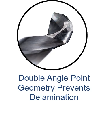Miniature High Performance Drills - Composites - Double Angle