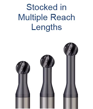 Undercutting End Mills - 270° - For Hardened Steels