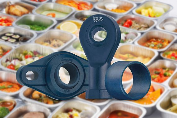Polymer machine parts for contact with food