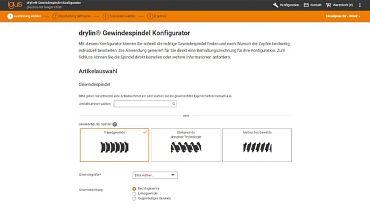 The online lead screw configurator