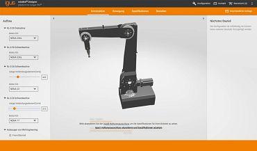 Configure cost-effective robots easily online