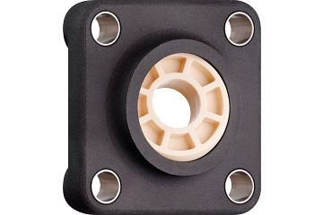 Fixed flange bearings with 4 mounting holes, plastic housing, igubal® JEM-SP
