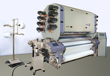 The Unished 2 developed by Gitec GmbH is the world's first harness-less Jacquard weaving machine.
