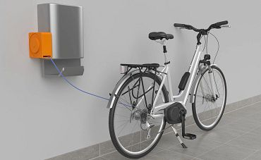 e-spool flex mini at charging stations for e-bikes