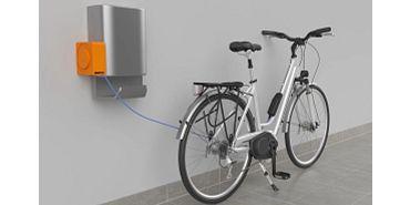 e-spool flex mini em estações de carregamento para bicicletas elétricas