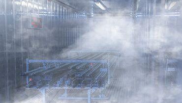 Kältekammer mit Energieketten