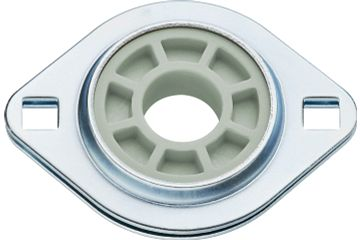 Fixed flange bearings with 2 mounting holes, PFL, J4EM, igubal®