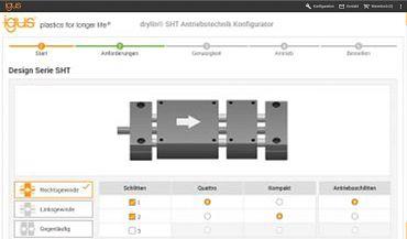 Configure linear modules online