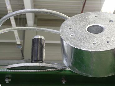 Im Traktionsring kommen je drei Polymer-Gleitlager zum Einsatz.
