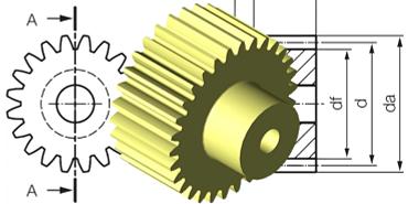 Zahnrad CAD im Konfigurator konstruieren