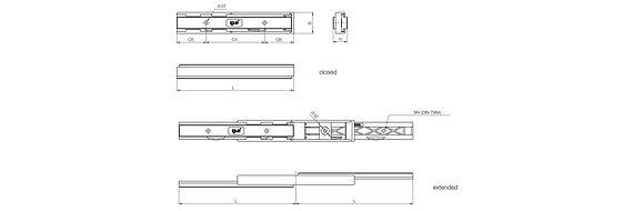 NTP27 Vollpolymerteleskopstange von igus