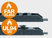 e-ketten mit Icons FAR25.853 und UL94V0