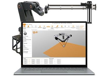 Linear robot control system with software