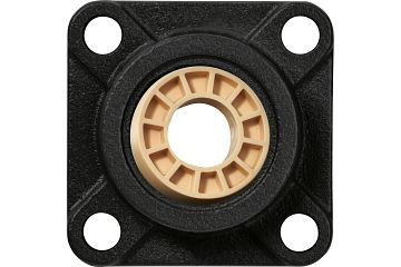 Fixed flange bearings with 4 mounting holes, cast iron housing UC, igubal® JEM-SP