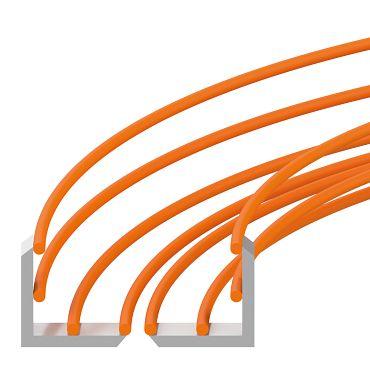 Dreh-Energieführung mit Rohr-Rinnen