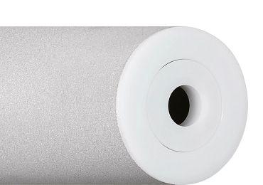 Sandgestrahlte xiros® Tragrolle aus Aluminium