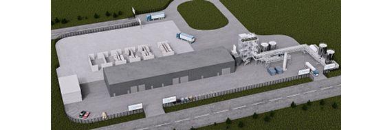 Model af det nye HydroPRS anlæg på Wilton International komplekset