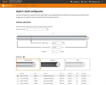 Shaft configurator