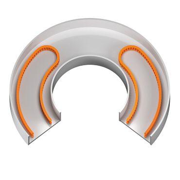 Platzsparend mit gegenläufigen e-ketten®