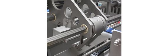 Hexagonal guide has been developed as a special part especially for the sausage chain cutter.
