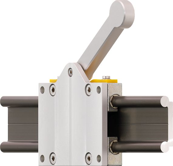 New drylin® manual clamp design with clamping lever
