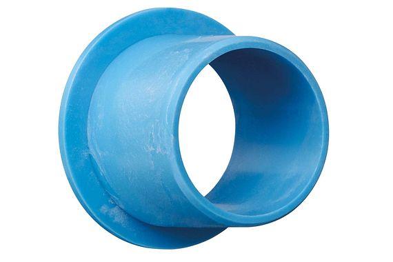 Sleeve bearing with flange, food-safe