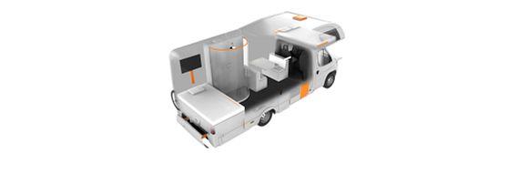 Aménagement de caravane fait maison avec igus