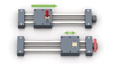 Linearmodul mit Schnellverschluss Mechanismus