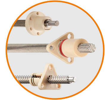 Low-clearance lead screw nuts