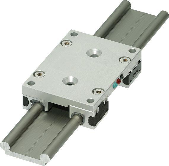 線性滑塊中帶有感測器的智慧線性導軌