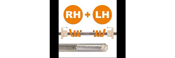 Reverse lead screw
