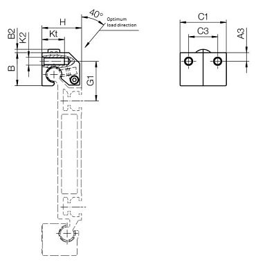 Rollenlager WJRM-BB-31 & 41 Technische Zeichnung