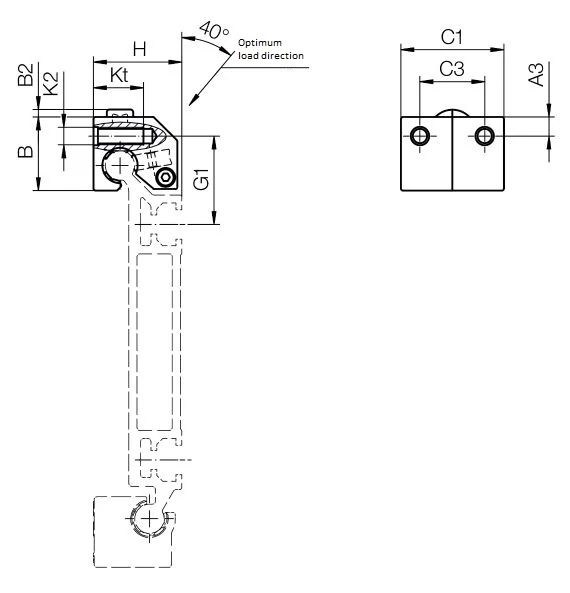 Roller bearings WJRM-BB-31 & 41 Technical drawing