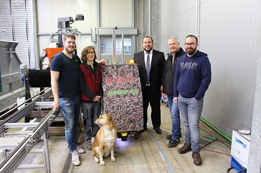 Family Langhoff with Alexander Muehlens, Project Manager drylin