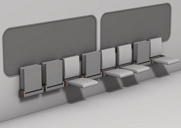 Bahnsitze mit iglidur Gleitlagern