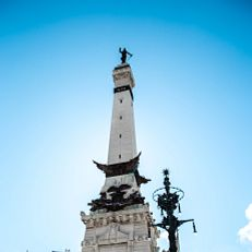 Soldiers and Sailors monument at Monumnet Circle in downtown Indianapolis. Photo taken Tuesday, February 16, 2021.