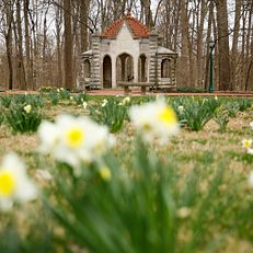 The Rose Well House is pictured on a spring afternoon at Indiana University Bloomington on Friday, March 20, 2020.